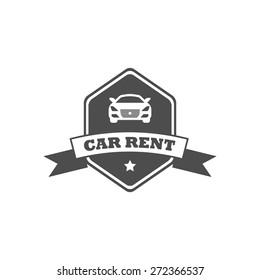 car rent modern vector badge.
