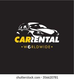 Car rental company logo, rent a car