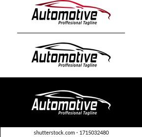 Car Rental Logo Template Design Vector, Emblem, Design Concept, Creative Symbol, Icon. Car Logo Template with Black Backround.Abstract Car Silhouette for Automotif Company logo. - Vector