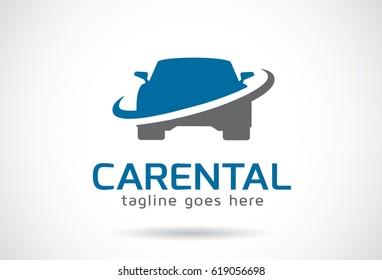 Car Rental Logo Template Design Vector, Emblem, Design Concept, Creative Symbol, Icon