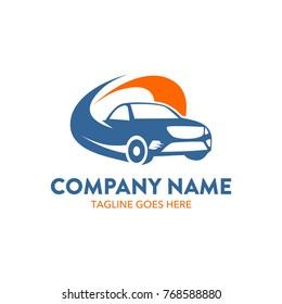car rental logo template. vector. editable