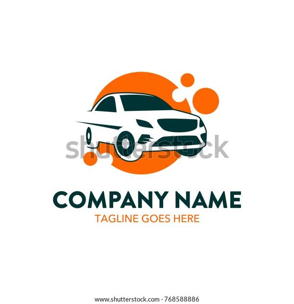 Car Rental Logo Template Vector Editable Stock Vector Royalty Free