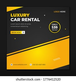Car rental social media template modern