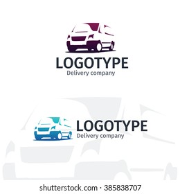 Car repair or delivery service label. Vector logo design template.