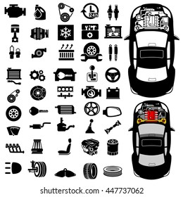 Car repair Engine vector