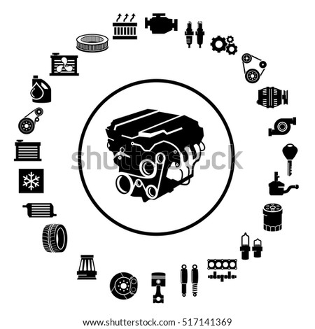 Car Repair Engine Vector Stock Vector Royalty Free 517141369