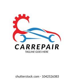 car repair logo design template. Vector illustration