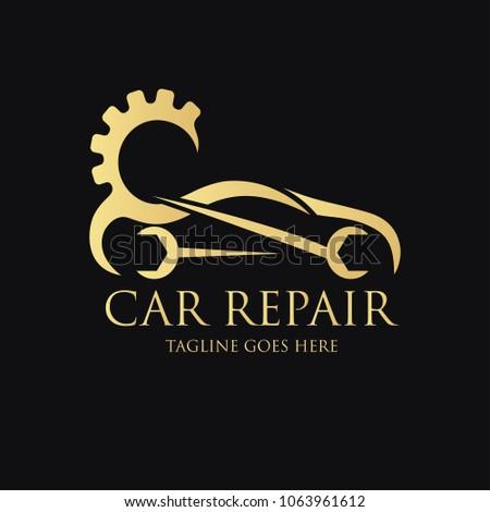 Car Repair Logo Design Template Vector Stockvector Rechtenvrij
