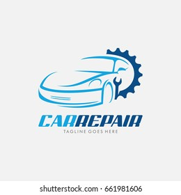 Car Repair logo icon with gear, use for your car workshop