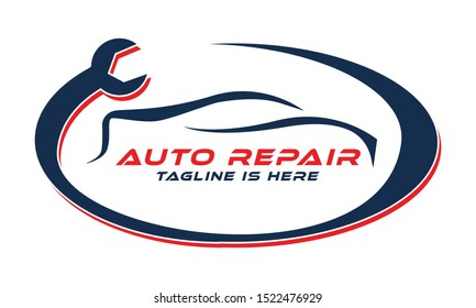 Car Repair, Car Maintenance Logo Template. Stylish Auto Car Repair Logo Template vector. Auto Repairing Logo Vector. Automotive and Transportation Logo template.
