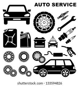 Car repair service icon. vector