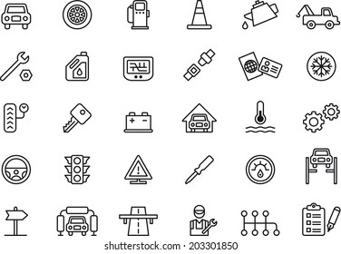 Car Repair Shop icons