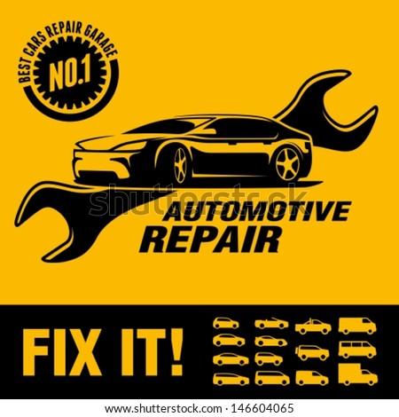 car repair shop sign のベクター画像素材 ロイヤリティフリー