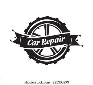 Car Repair. Vector format
