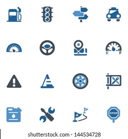 car and road icons