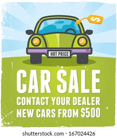Car sale design template