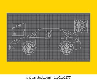 car schematic images, stock photos \u0026 vectors shutterstock Artificial Inteligence Schematics car schematic or car blueprint paper technical drawing