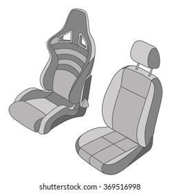 Car Seat vector set