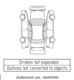 car sedan  drawing outline