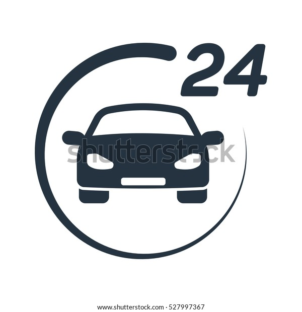 Car Service 24 Hours Call Center Stock Vector Royalty Free 527997367