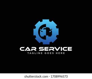 Car Service and Automotive Logo Design Vector