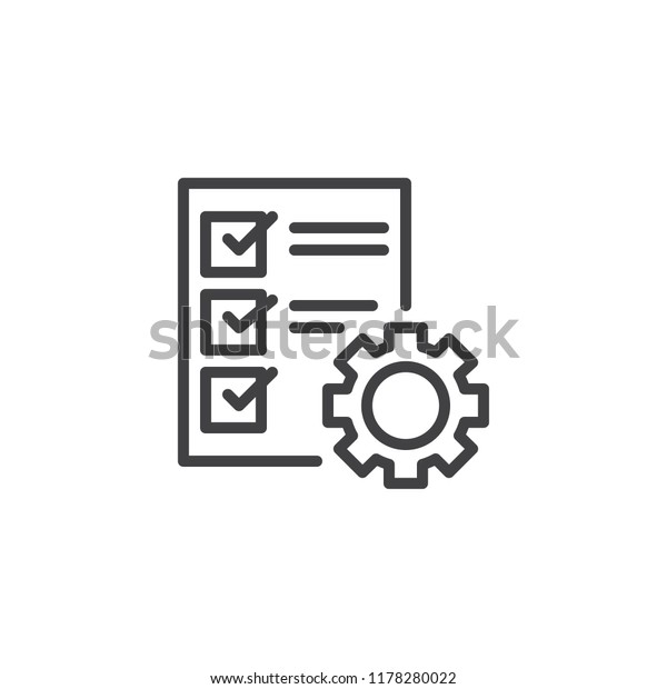 Car Service Check List Outline Icon Stock Vector (Royalty Free