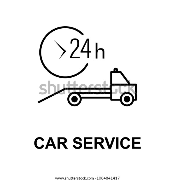 car service evacuator icon. Element of car repair for mobile concept and web apps. Detailed  icon can be used for web and mobile. Premium icon on white background