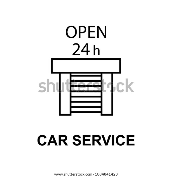 car service garage icon. Element of car repair for mobile concept and web apps. Detailed  icon can be used for web and mobile. Premium icon on white background