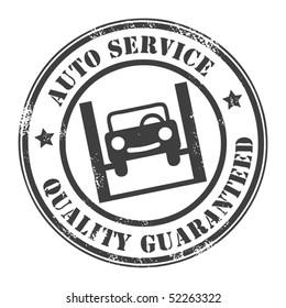 Car service grunge stamp, vector illustration