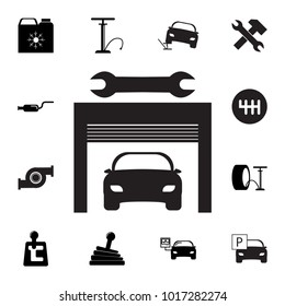 Car service icon. Set of car repair icons. Signs, outline eco collection, simple icons for websites, web design, mobile app, info graphics on white background