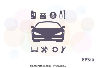 car service icon vector eps 10 stock vector (royalty free) 551335243
