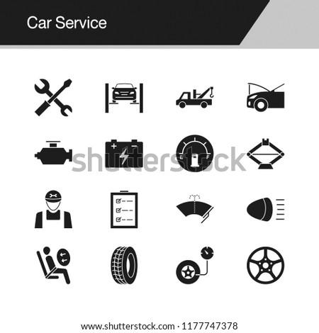 car service icons design presentation graphic stock vector royalty