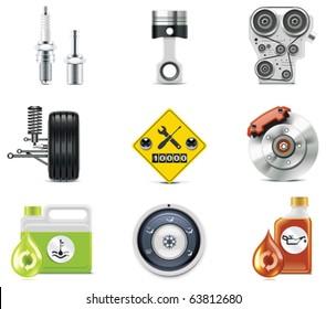 Car service icons. Part 3