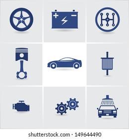 car service icons set 2. eps10