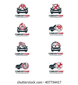 Car Service Logo set, Vehicle repair center Symbols