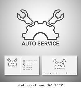 Car service logo,Business card template,vector