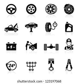 Car service maintenance icon set1. Vector illustration. More icons in my portfolio.
