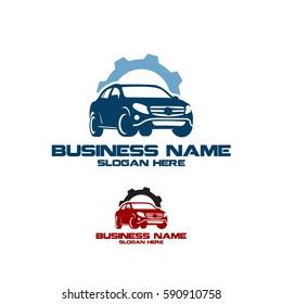 Car service, Car repair logo vector illustration