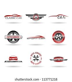 Car service and Repairing icon set. Vol 1.