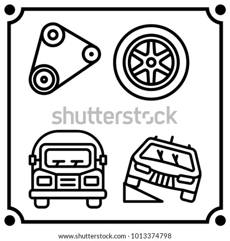 Car Service Set Icon Vector Stock Vector Royalty Free 1013374798
