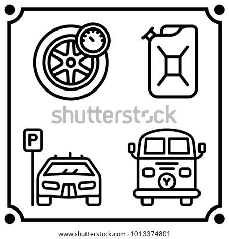 Car Service Set Icon Vector Stock Vector Royalty Free 1013374801