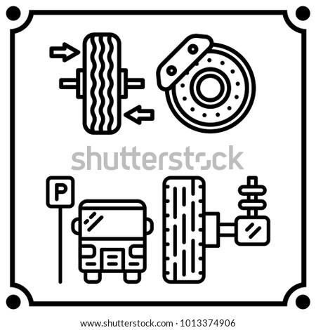 Car Service Set Icon Vector Stock Vector Royalty Free 1013374906