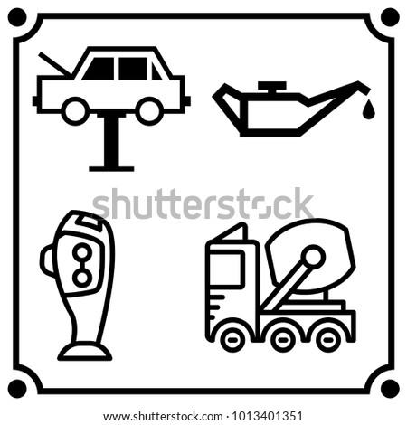Car Service Set Icon Vector Stock Vector Royalty Free 1013401351