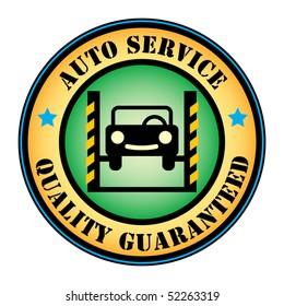 Car service stamp, vector illustration