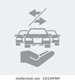 Car sharing service icon