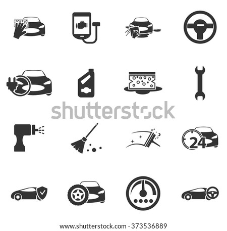 Car Shop Icon Set Web Sites Stock Vector Royalty Free 373536889