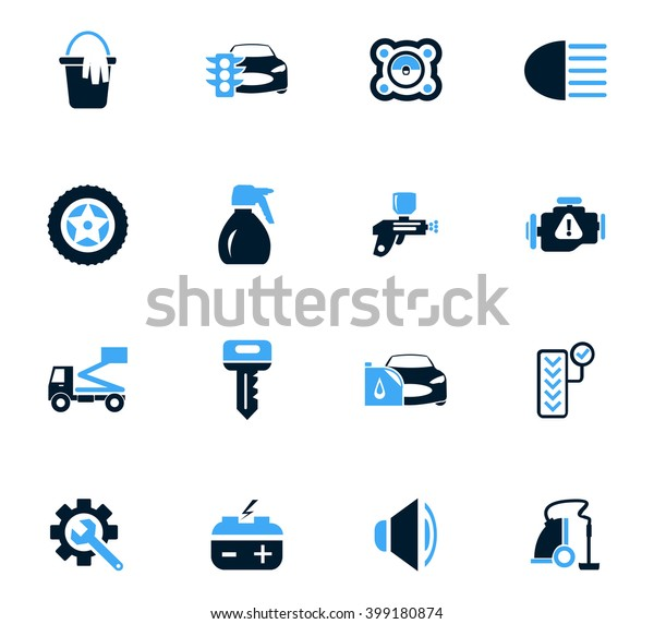 Car Shop Icon Set Web Sites Stock Vector Royalty Free 399180874