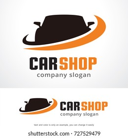 Car Shop Logo Template Design Vector, Emblem, Design Concept, Creative Symbol, Icon