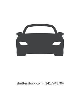 Car silhouette front icon symbol vector