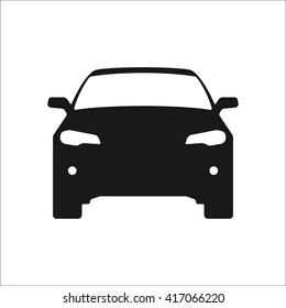 Car silhouette modern sign simple icon on  background